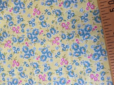 Tissus Patchwork Makower Floral Green 1648