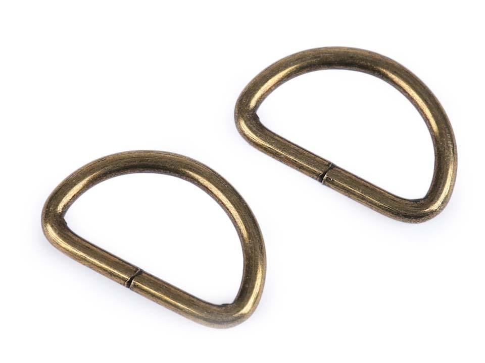 2 anneaux demi lune bronze d32cm non soude