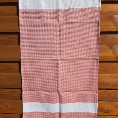 Torchon Nid d'Abeille 47x80 cm Couleur Mandarine