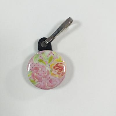 Tirette zip  badge fermeture éclair Orchidée