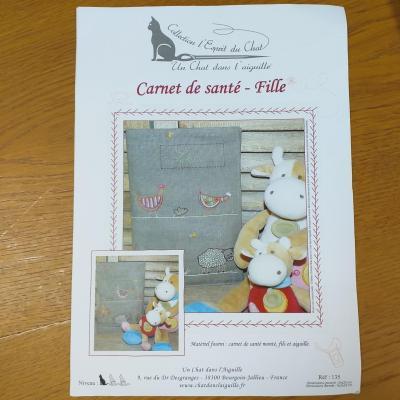 Carnet de Santé -Fille- Un chat dans l'aiguille