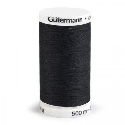 Fil à Coudre 100% Polyester 500m Coloris Noir 000 Guttermann