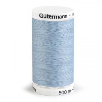 Fil à Coudre 100% Polyester 500m Coloris Bleu Arctique 075 Guttermann