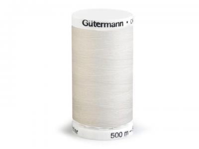Fil à Coudre 100% Polyester 500m Coloris Ecru 111 Guttermann