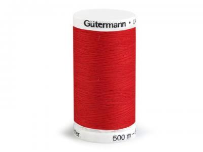 Fil à Coudre 100% Polyester 500m Coloris Rouge 156 Guttermann