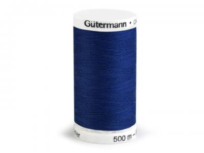 Fil à Coudre 100% Polyester 500m Bleu Jean 232 Guttermann