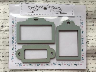 3 Etiquettes 'Cadre' Bleu Clair ET14 - The Bee Company