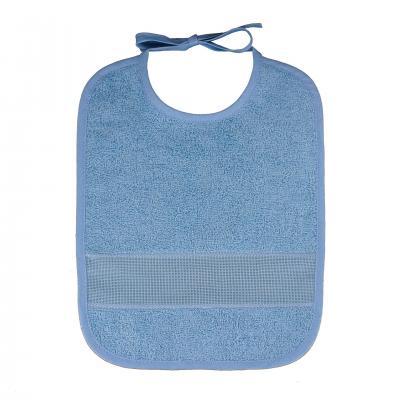 Bavoir à broder grand modèle 34 x 31 cm Bleu