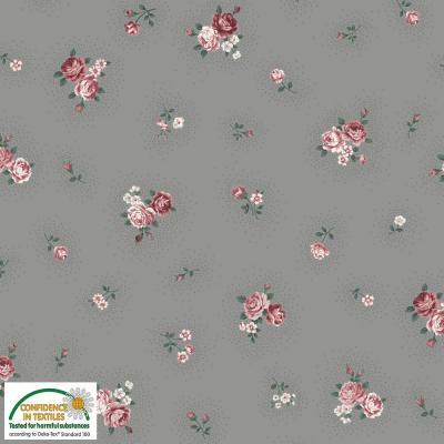 Tissus Patchwork Stof Emily Roses 4501 022