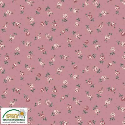 Tissus Patchwork Stof Emily Roses 4501 026