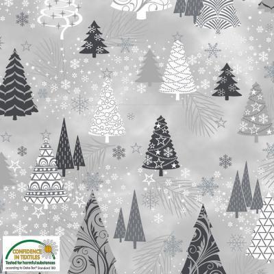 Tissu Patchwork It's Snowflake MS20-02Grey