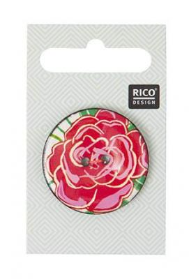 Bouton coco Rose Rouge  Rico Design 500060.514