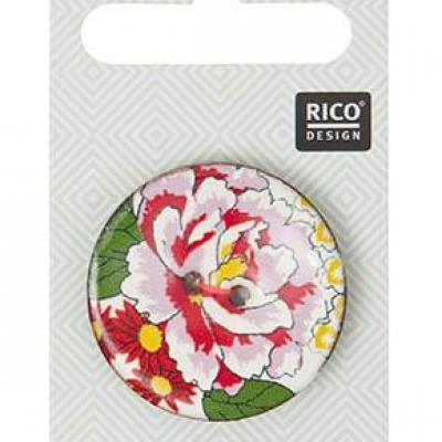 Bouton coco Rose rose Rico Design 500060.515