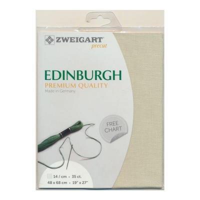 Precut Toile à Broder Zweigart  Lin Edinburgh 14 Fils Calcaire 6047 48x68 cm