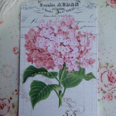 Etiquette Message Fleur Hortensia