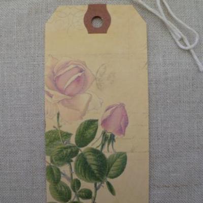 Etiquette Message d'Antan Fleur Rose