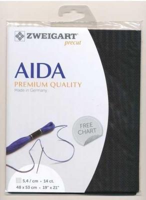 Precut Toile à Broder Zweigart  Aida 5.4 720 48x53 cm