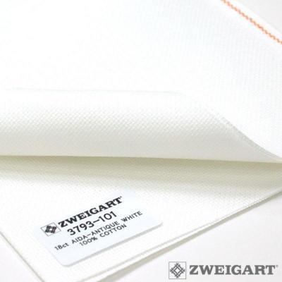 Toile à broder Zweigart Aïda 7 Pts Extra Fine 3793 Blanc Antique 101