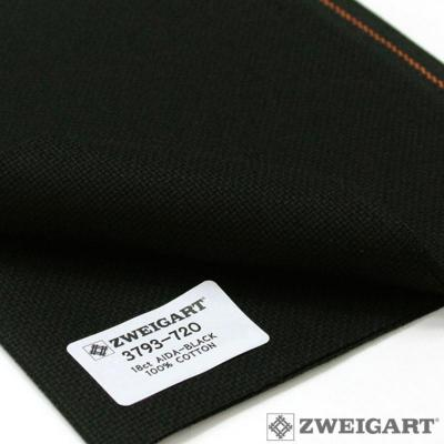 Toile à Broder Zweigart Aïda 7 Pts Extra Fine 3793 Noir 720