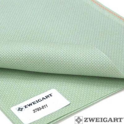 Toile à Broder Zweigart Aïda 7 Pts Extra Fine 3793 Vert Antique 611