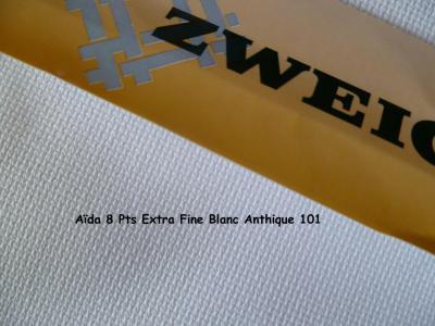 Toile à Broder Zweigart Aïda 8 Pts Extra Fine 3326 Blanc Antique 101
