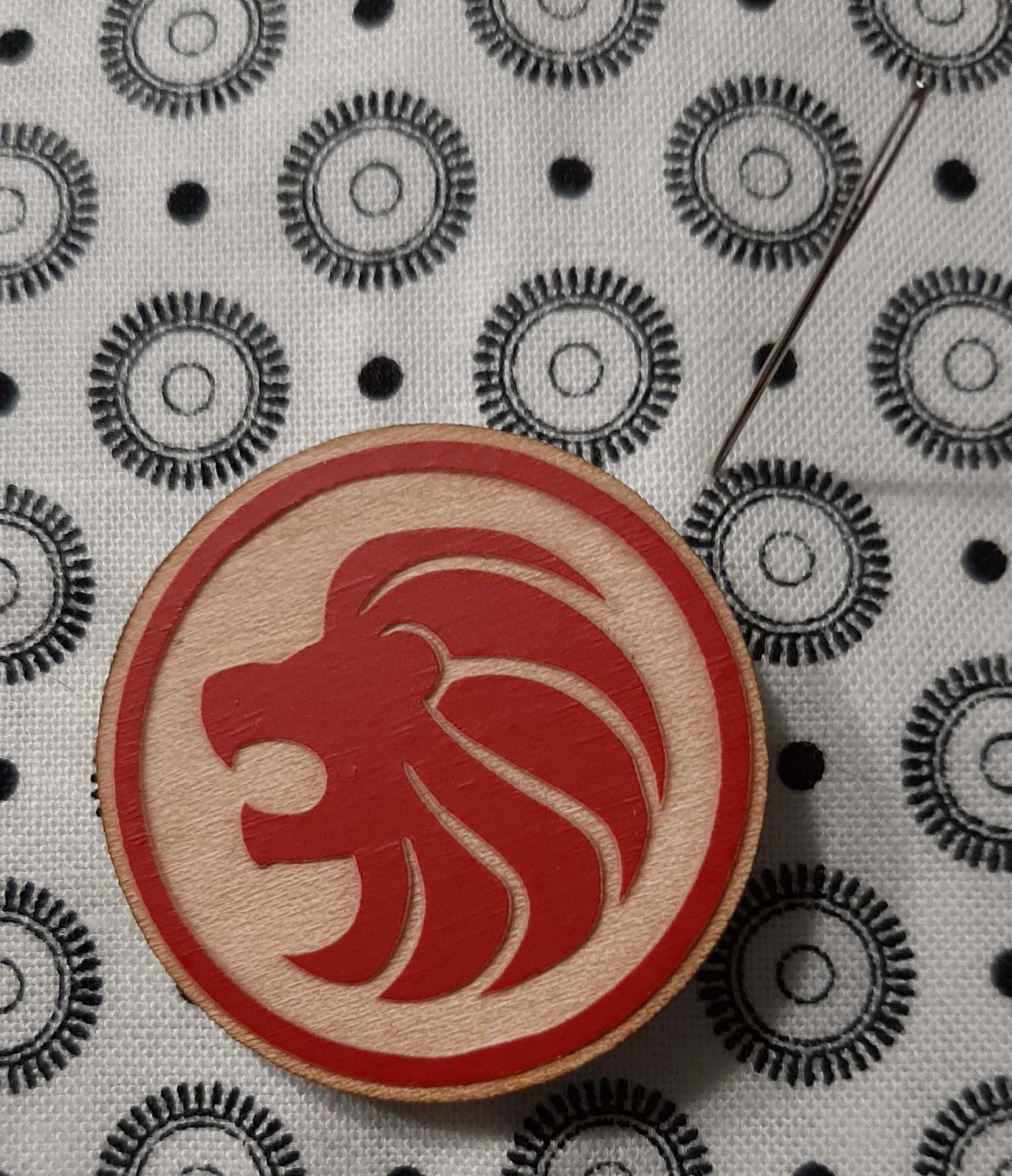 Aimant porte aiguille lion