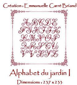 Alphabet du Jardin I JAJ01 Alice and Co