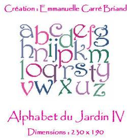 Alphabet du Jardin IV JAJ04 Alice and Co