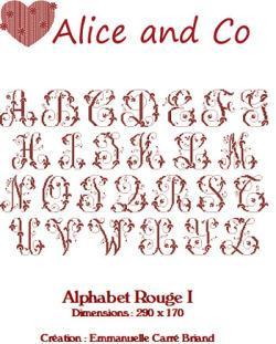 Alphabet Rouge I ARO01 Alice and Co