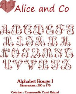 Alphabet Rouge I ARO01 Alice and Co
