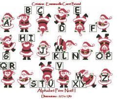 Alphabet Père Noël NAL01 Alice and Co