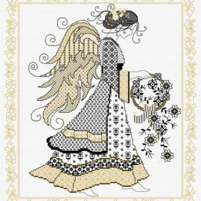 Blackwork Angel 'Ange' Lesley Teare