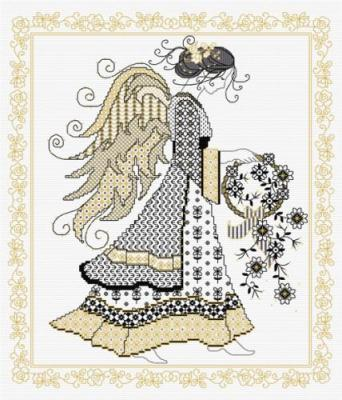 Blackwork Angel 'Ange' Lesley Teare