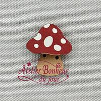 Champignon large rouge AU-01-RG - Atelier Bonheur du jour