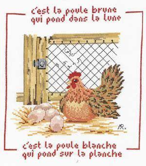 La poule brune N° 600 Au Fil de Martine