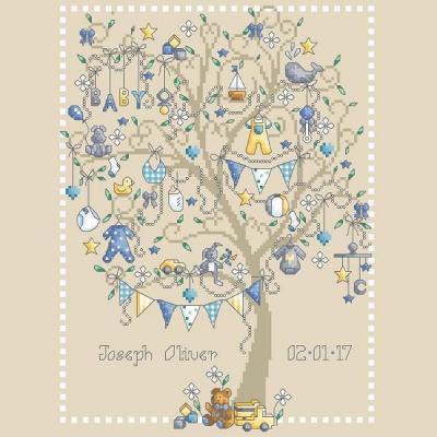 Baby Boy Tree 'Arbre de Naissance' Shannon Christine Designs