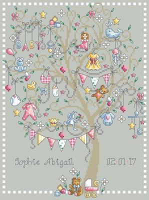 Baby Girl Tree 'Arbre de Naissance' Shannon Christine Designs