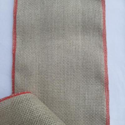 Bande Aïda en Lin 5.2 Pts Liseré Rouge en 12,5 cm