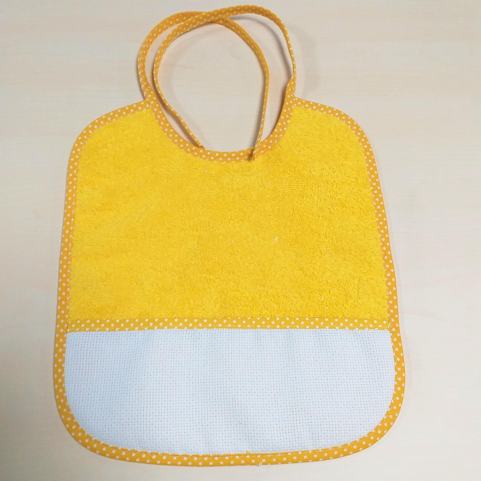 Bavoir jaune 1