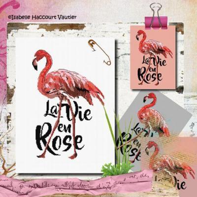 Flamingo Rose BDN62 Isabelle Haccourt Vautier
