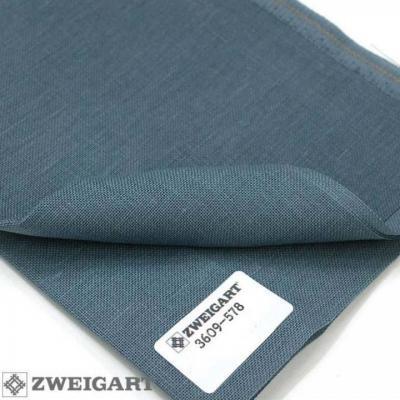 Toile à Broder Zweigart Lin Belfast 12,6 Fils Blue Spruce 578