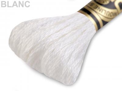 Fils à broder moulinés DMC Art. 117 - Blanc au 311