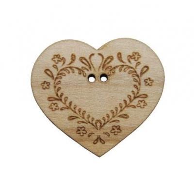 Coeur gravé type Alsace BLC030 Au P'tit Bonheur