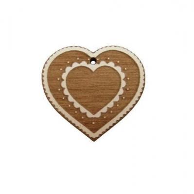 Pendendif coeur de montagne simple BLC061 Au P'tit Bonheur