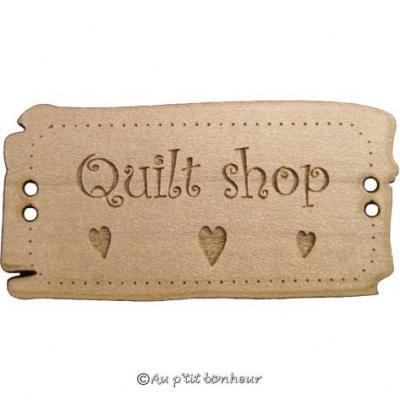 Panneau Country Shop avec Coeurs BLD018  Au P'tit Bonheur
