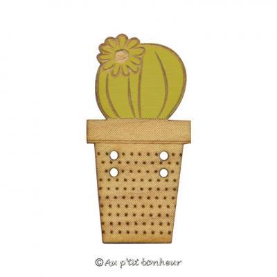 Cactus Fleuri vert kiwi érable BLF139-118