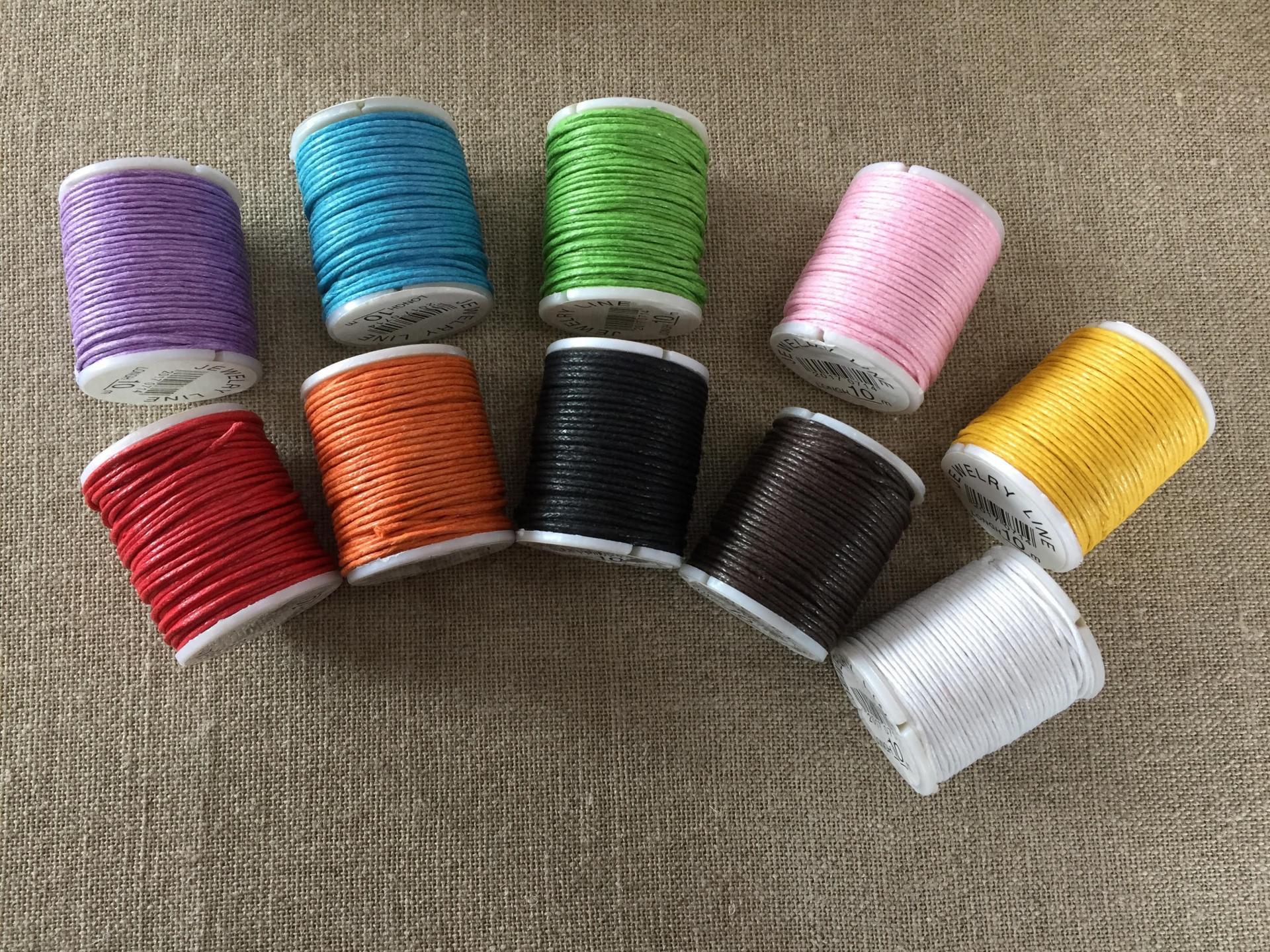 Bobine coton cire 10m