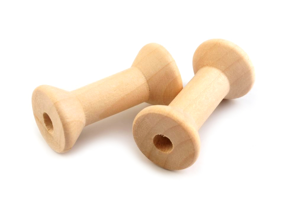 Bobine en bois 2x4 cm 1