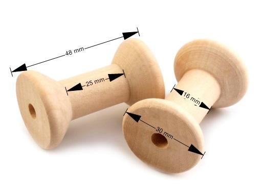 Bobine en bois 3x4 8cm 2