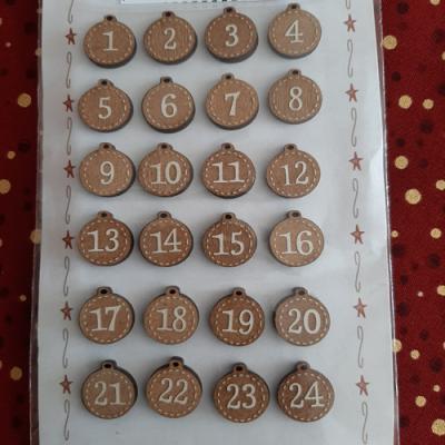 Boutons de l'Avent de Noël NO10 The Bee Company